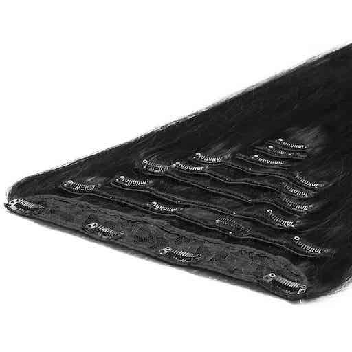 Extension à Clip Deluxe 50cm 200g 1B Noir Naturel-0