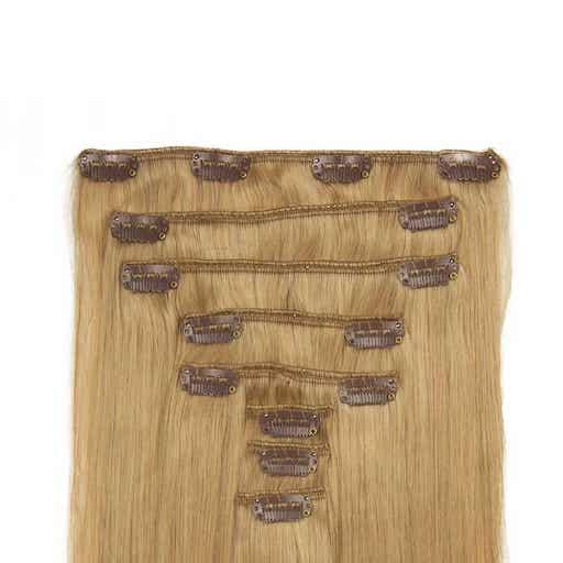 Extension à Clip 60cm 160g 16 Blond Cendré-0